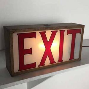 Exit Sign vintage