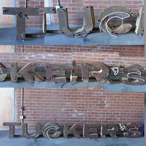 Tuckers rusty old letters channel letters