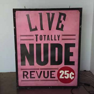Live Totally Nude Revue 25 cents