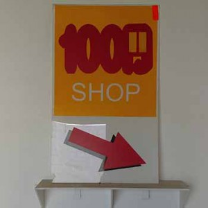 1000 Shop, Light Box Sign Face