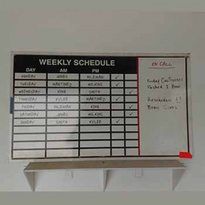 Weekly Schedule Calendar Light-Box