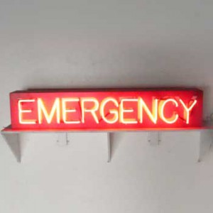 "EMERGENCY with wood box 8"" x 43"" x 6"""