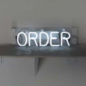 ORDER white neon