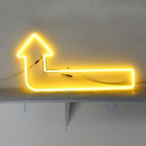 Yellow Arrow with 90° left-turn near head