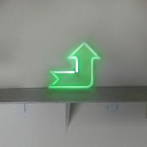 Mini Green Bent Angled Arrow