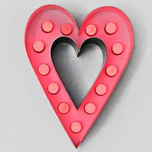 "20"" Tall Channel Heart  Valentines Day Valentine"