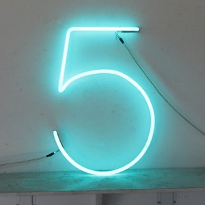 5 (the number #) -  Torquoise