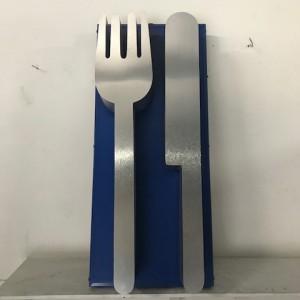 Fork Knife Back-Lit Sign Cafeteria Utensils Silverware Kitchen Dining Dinner restaurant diner cafe