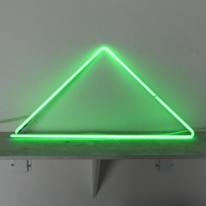 "Green Triangle - 14"" x 28"" - Neon Only"