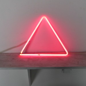 "Pink Triangle - 12"" x 13"" - Neon Only"
