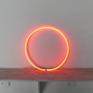 """Orange Circle - 15"""" - neon only"""