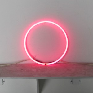 "Pink Circle - 13"" - neon only"