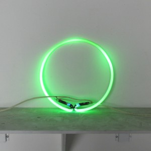 "Green Circle - 13"" - neon only"