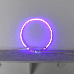"Purple Circle - 12"" - Neon Only"