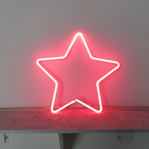 """Pink Star - 15"""" x 15"""" - Neon Only"""