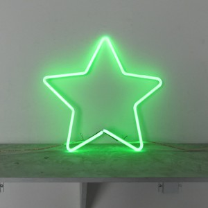 "Green Star - 15"" x 15"" - Neon Only"