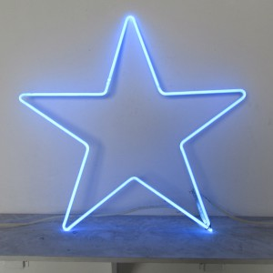 "Blue Star - 25"" x 26"" - Neon Only"