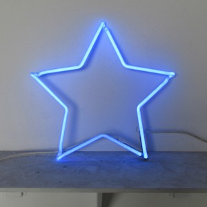 "Blue Star - 19"" x 19"" - Neon Only"