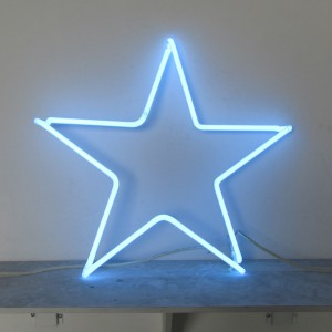 "Voltarc Blue Star - 24"" x 24"" - Neon Only"