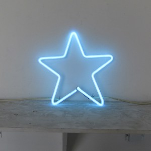 "Clear Blue Star - 12"" x 12"" - Neon Only"