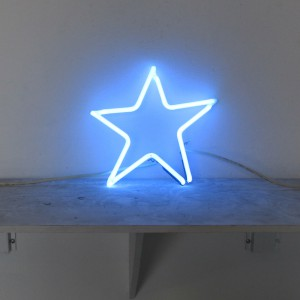 "Blue Star - 11"" x 11"" - Neon Only"