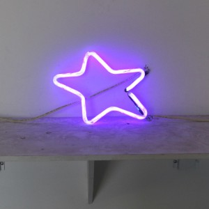 "Purple Star Skewed - 10"" x 10.5"" - Neon Only"