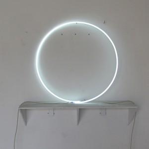 "6500 White - 35"" White Circle - Loose Neon shape shapes ring"