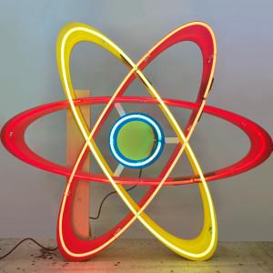 atom atomic science space molecule math future futuristic