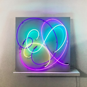 art modern swirls rainbow colorful artwork