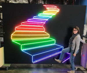 Rainbow stairs pride staircase steps