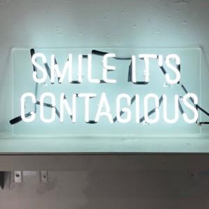 Smile smiles art neon sayings